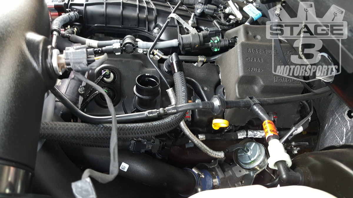 Upr Dual Valve Vps Catch Can Installed On A 2015 F150 3 5l
