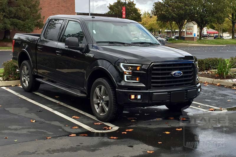 2017 F150 Led Headlight >> 2015-2017 F150 ANZO LED Switchback Outline Projector Headlights (Black Housings) 111357