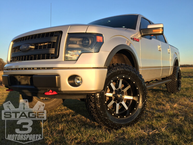 2013 F150 EcoBoost with Fuel 20x10-inch Machined Maverick Wheels with -12mm Offsets