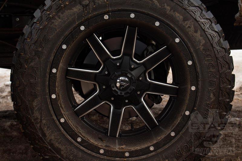 """1999-2018 F250 & F350 Fuel Maverick 20x12"""" D538 Wheel (8x170mm/-44mm Offset) Black Milled ..."""