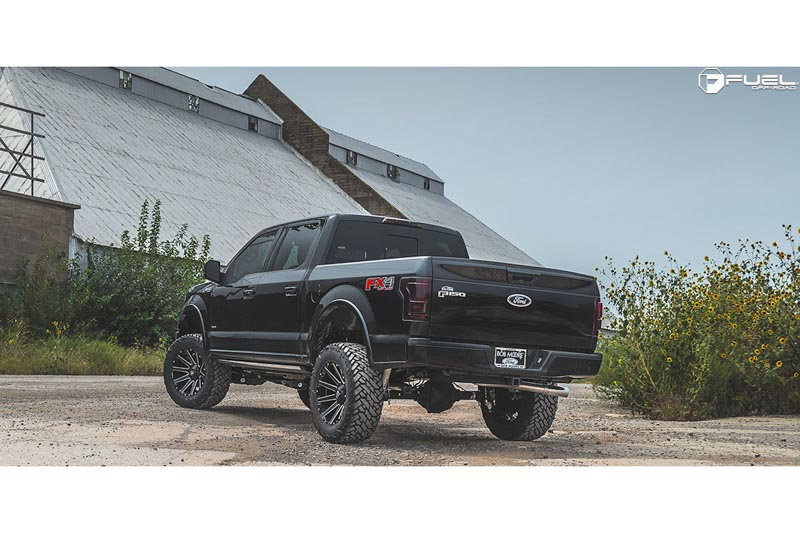 D F Fuel Contra X D Wheel X Mm Mm Offset Gloss Black Milled on 2004 Ford F 150 Black