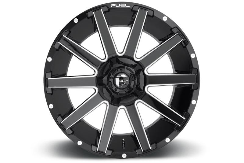 fuel contra   wheel xmmmm offset gloss black milled