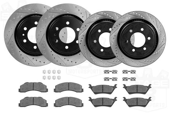 F150 Complete Drilled and Slotted Brake Kit