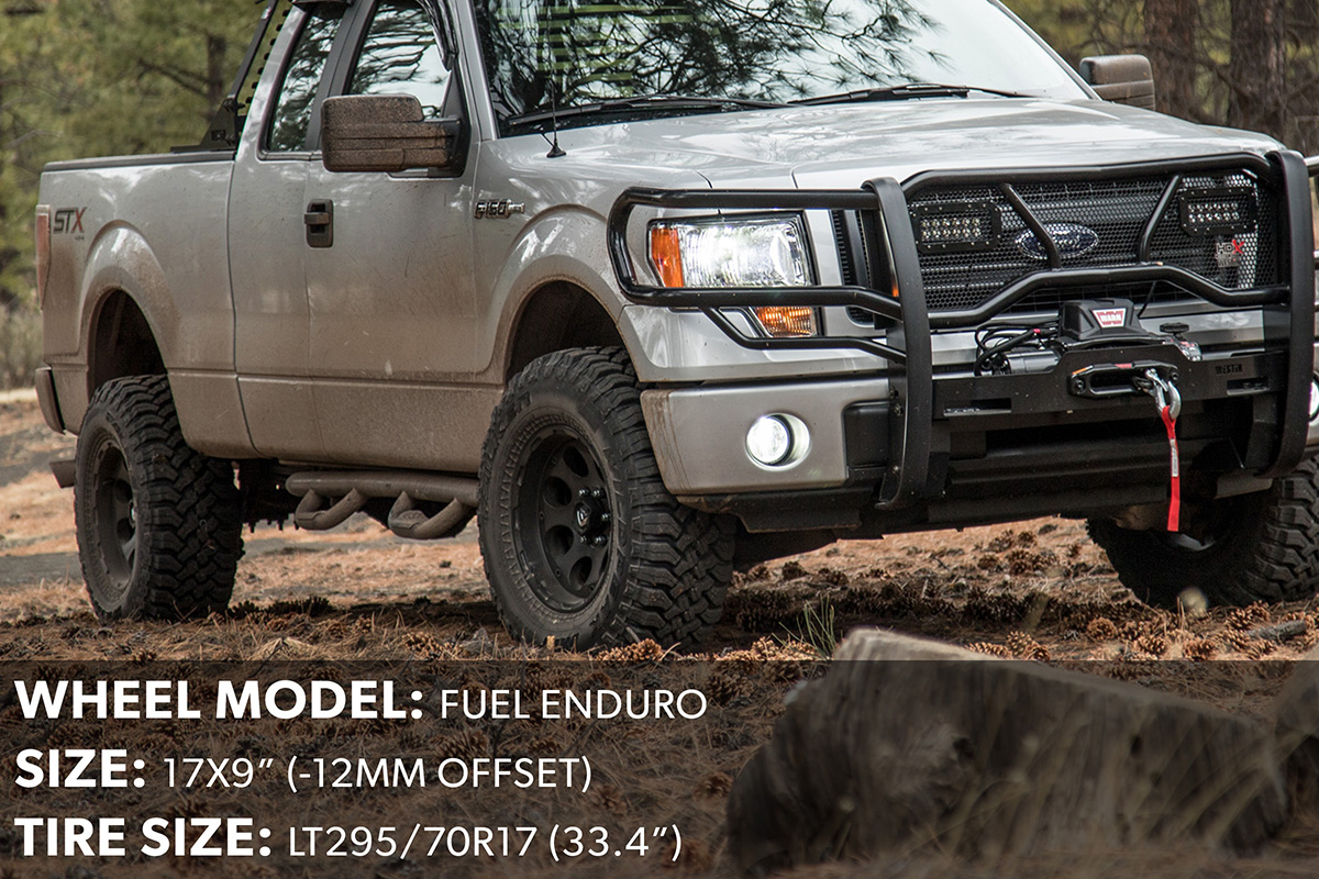 2014 F150 17x9 Fuel Enduro Wheels