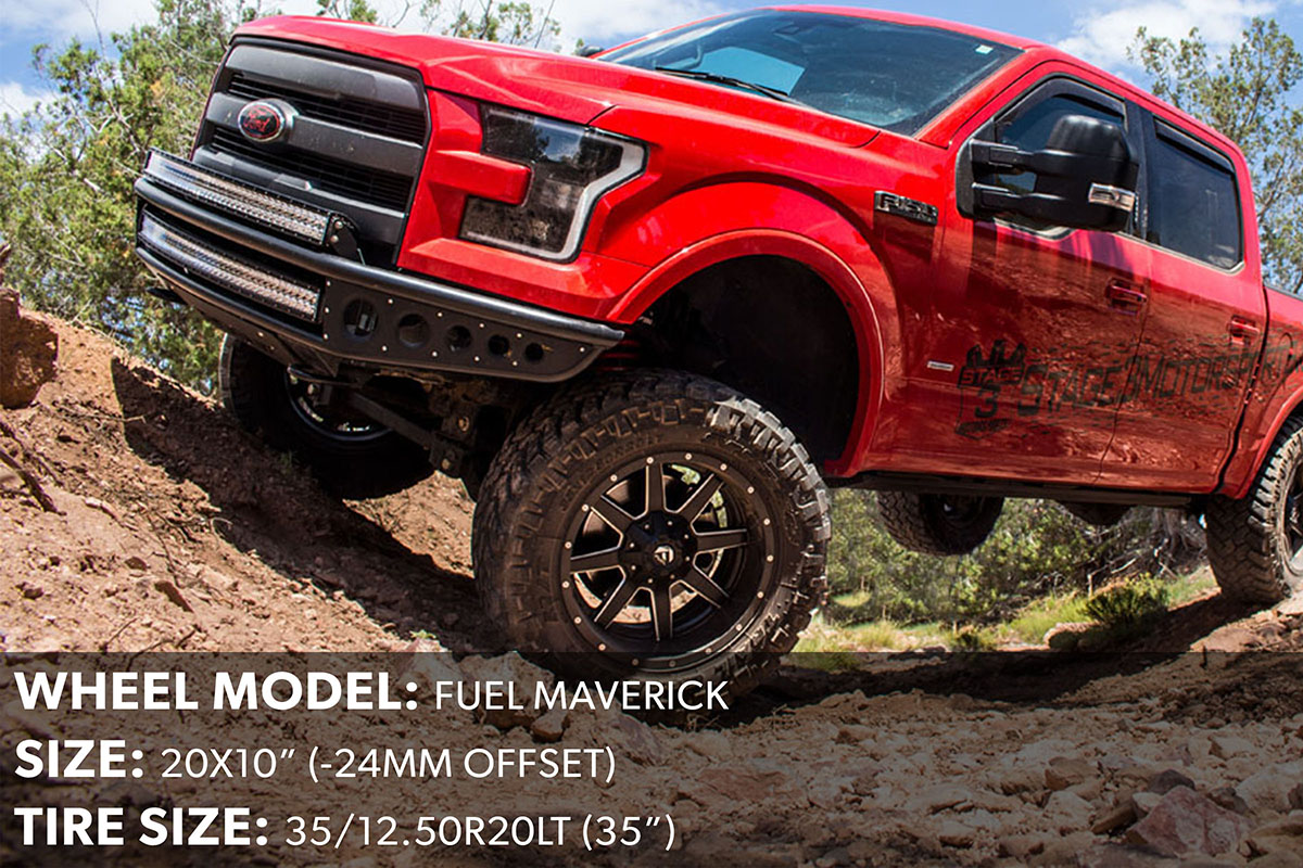 2015 F150 20x10 Fuel Maverick Wheels