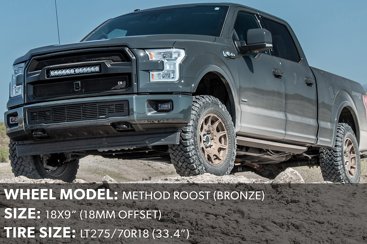 2017 F150 18x9 Method Roost Wheels