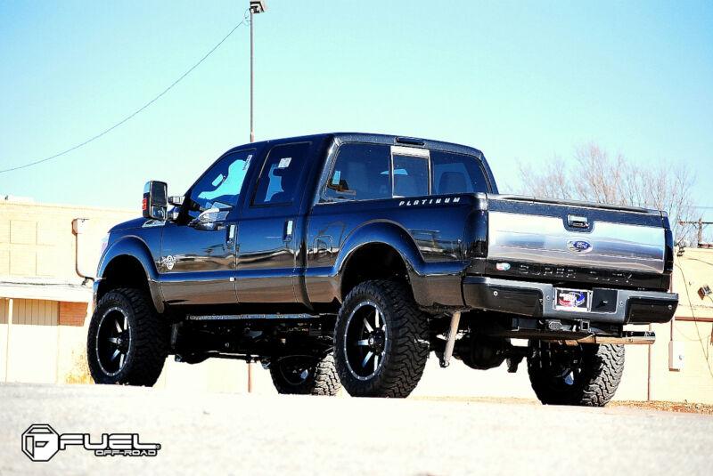 """1999-2019 F250 & F350 Fuel Maverick 22x10"""" D537 Wheel (8x170mm/-24mm Offset) Black Machined ..."""