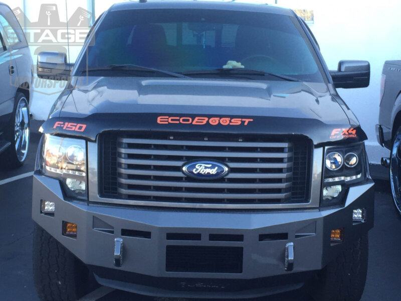 2009-2014 F150 Fusion Front Off-Road Bumper with Rigid Lights Installed