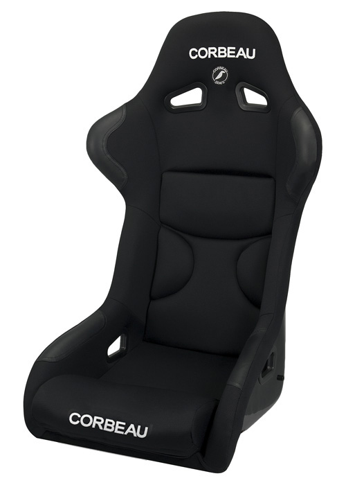 Corbeau Fx1 Racing Seat Wide Version Black Cloth Black Inserts 29501w