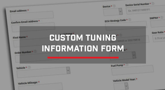 Stage 3 Tuning Info Form
