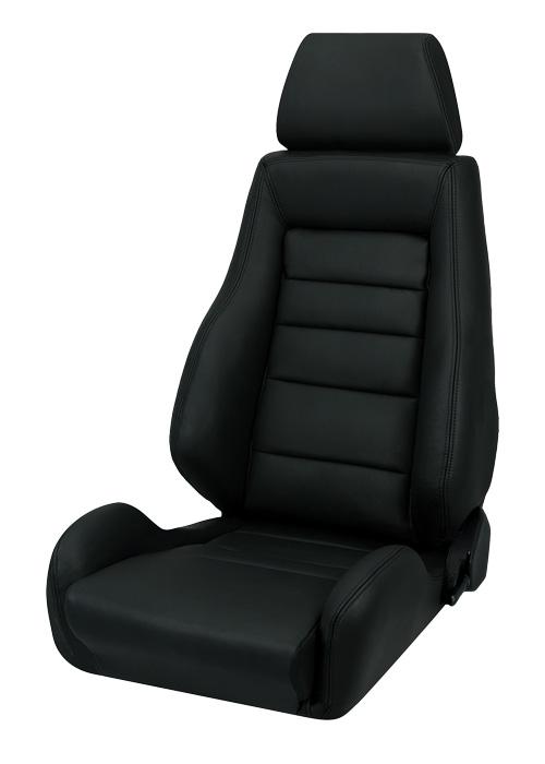corbeau gts ii racing seat black leather