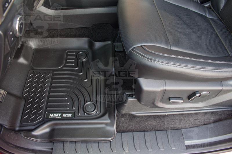 2015 F150 Husky Liner Weatherbeater Floor Mats Installed