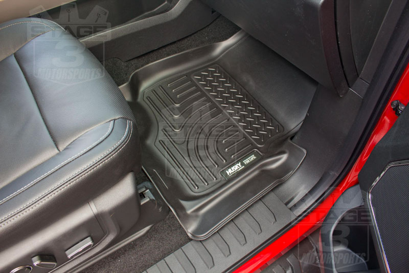 2015 F150 Husky WeatherBeater Front Floor Mats Installed