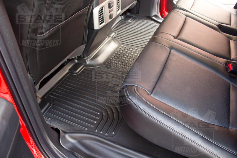 2015 F150 Husky WeatherBeater Rear Floor Mat Installed