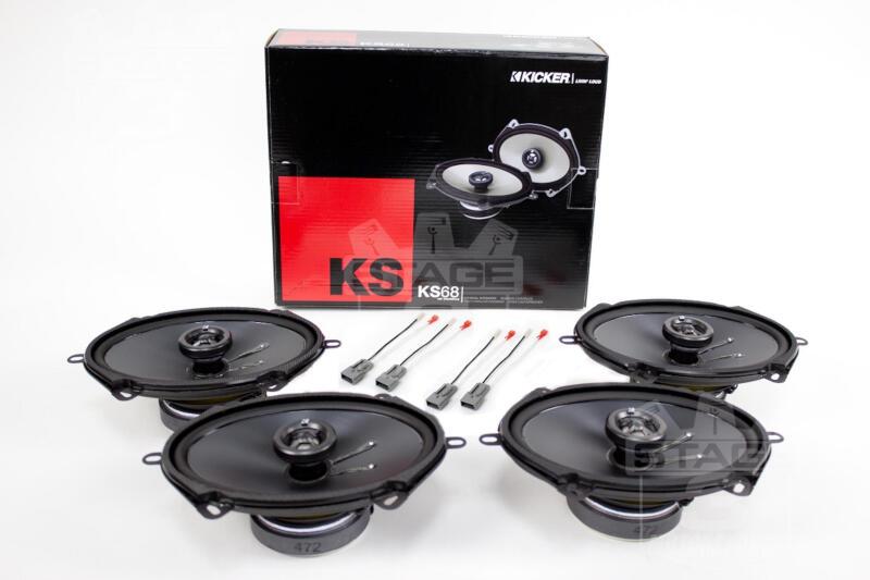 1994-2004 Mustang Kicker Speaker Upgrade Kit (Amp & Sub) K-KS68M-2 ...
