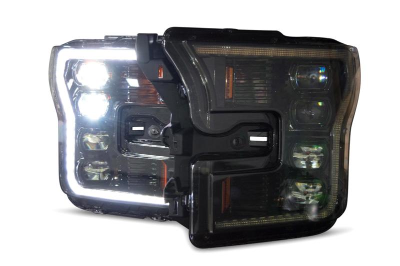 2015-2017 F150 & Raptor Morimoto XB LED Headlights (White Outline)