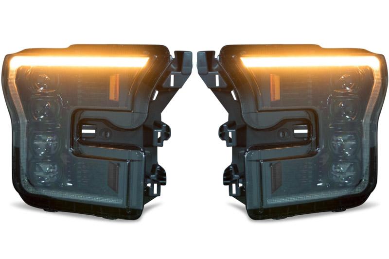2015-2017 F150 & Raptor Morimoto XB LED Headlights (Amber Outline