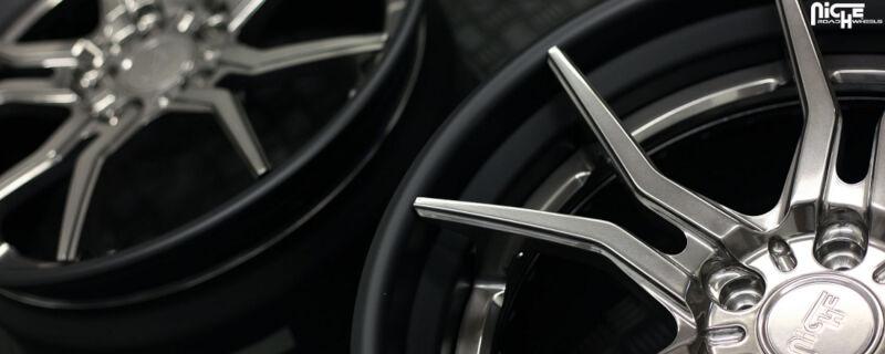 "Niche Wheels Mustang >> 2005-2017 Mustang Niche Ascari 20x10"" M166 Wheel (Black Machined w/ Brushed Face) M166200065+40"