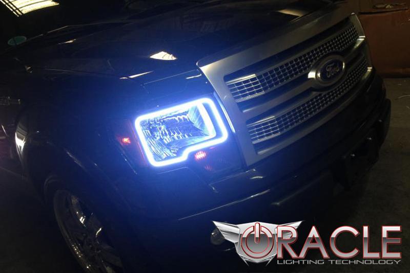 2009 2014 F150 Amp Raptor Oracle Led Headlight Halo Kit 2300