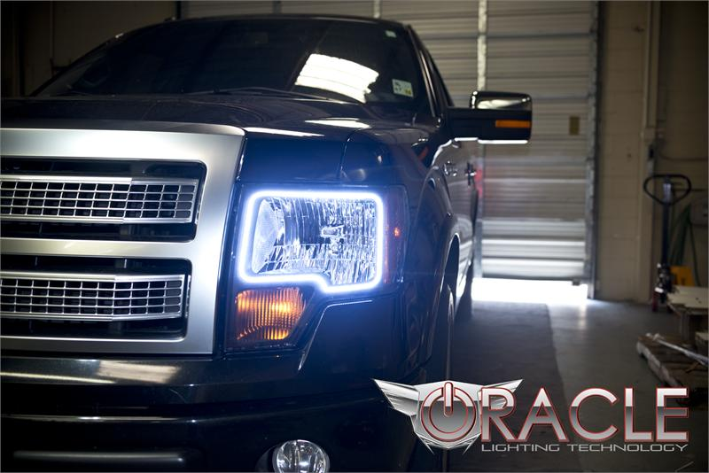 Ford F150 Aftermarket Parts >> 2009-2014 F150 & Raptor Oracle LED Headlight Halo Kit 2300