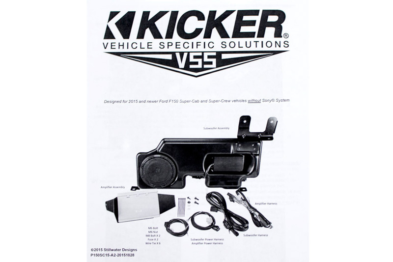2015 2018 F150 Kicker Vss Powerstage Powered Subwoofer Amp Kit Ford F 150 Tap To Expand