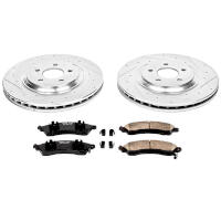 2013-2014 Shelby GT500 Power Stop Z26 Street Warrior Rear Brake Package