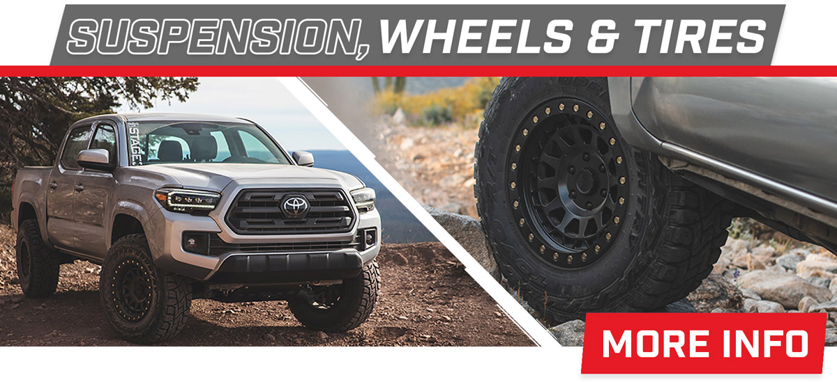 Stage 3's 2018 Toyota Tacoma SR Build Suspension, Wheels, & Tires