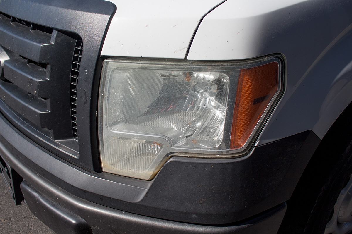 2011 F150 Stock Headlights with Condensation