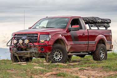 Stage 3's 2014 F150 Overland Project Truck Leveling Wheels and Tires