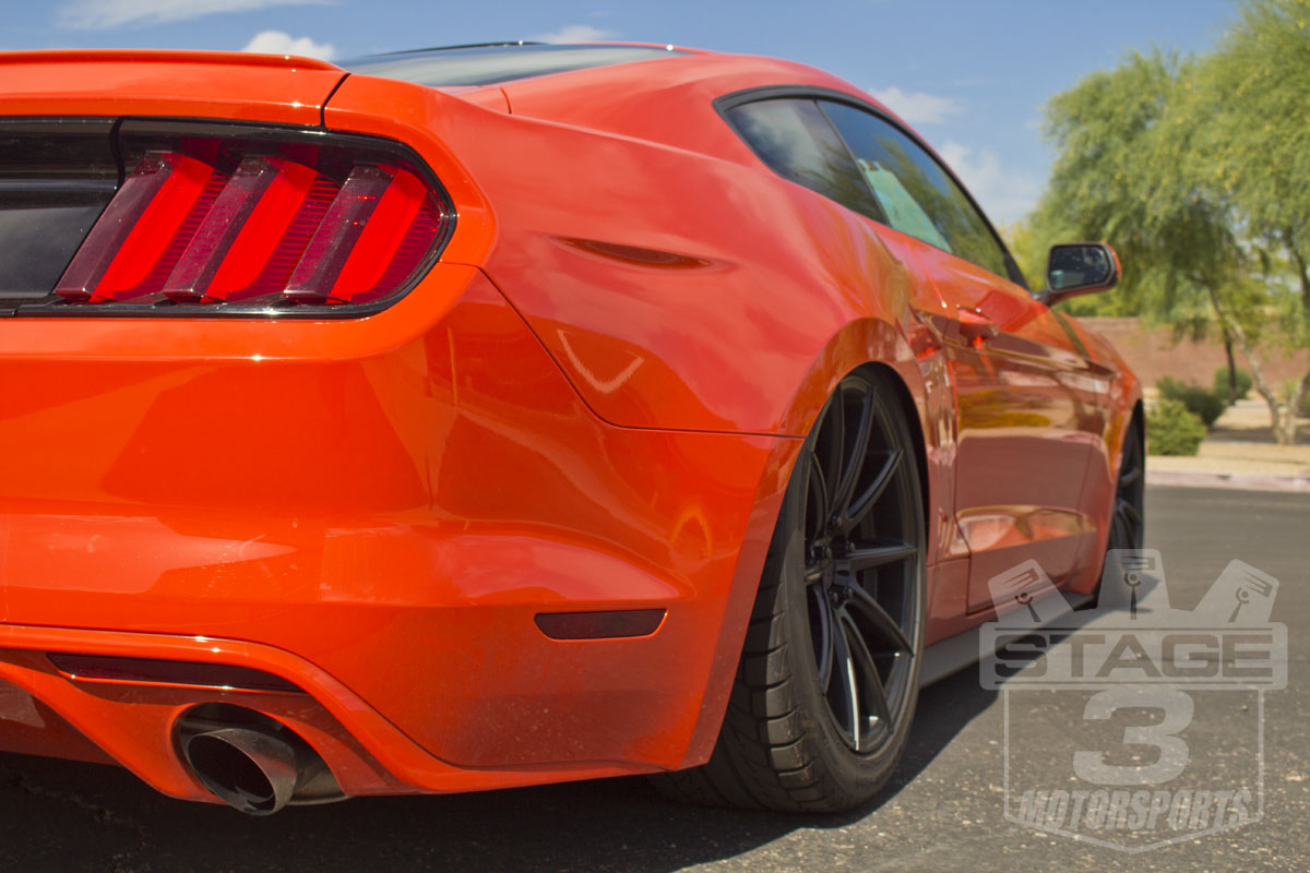 Stage 3's 2015 Mustang EcoBoost with Air Lift's Air Ride Digital Suspension System