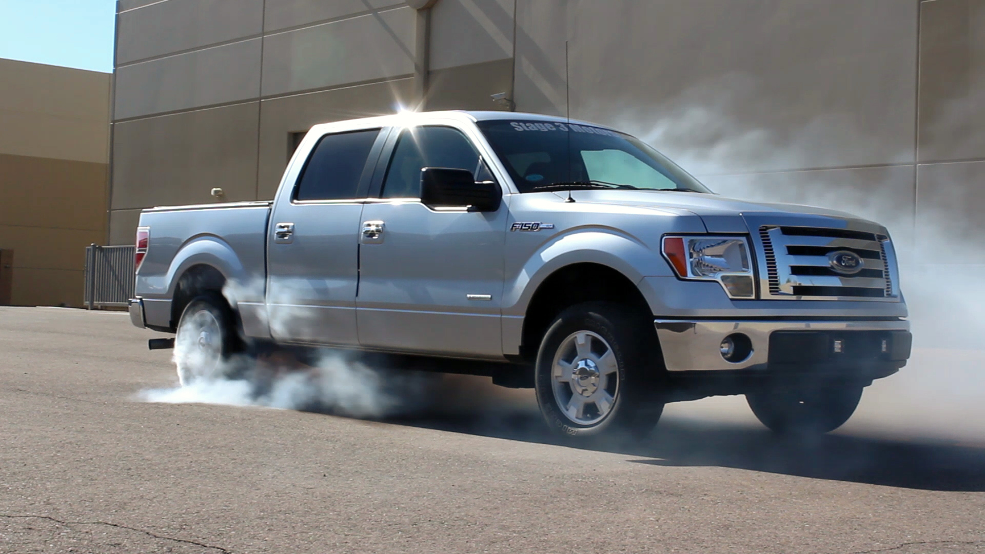 2011 f150 ecoboost project truck burnout