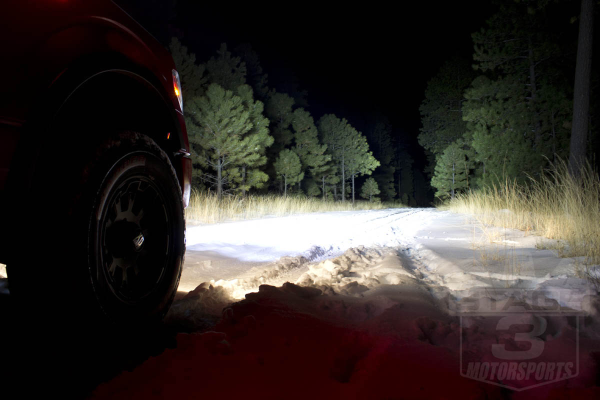 Rigid Industries 50-Inch SR-Series Light Bar at Night