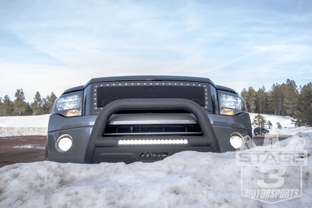 Stage 3's 2012 Expedition 5.4L Project Truck with LED Fogs and HID Headlights