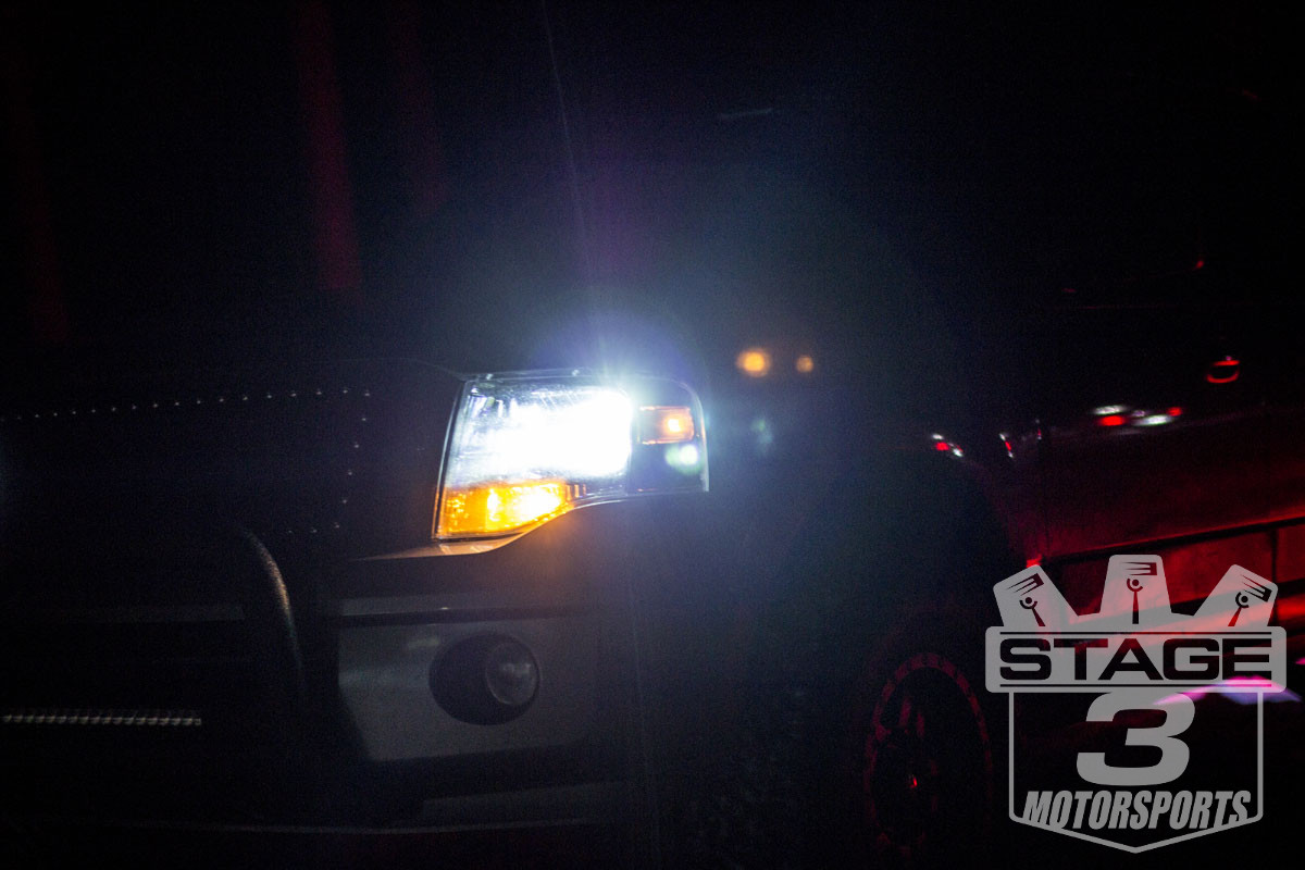 Stage 3's 2012 Expedition with HIDs Headlights, LED Fog Lights, and LED Light Bar