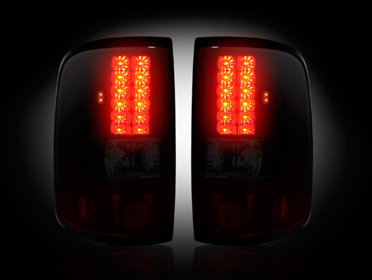 Ford Shelby F150 >> 2004-2008 F150 Recon Smoked Red LED Tail Lights 264178RBK