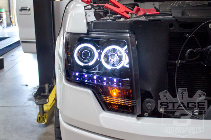 2013 F150 EcoBoost Platinum Recon Blacked-Out Projector Headlights