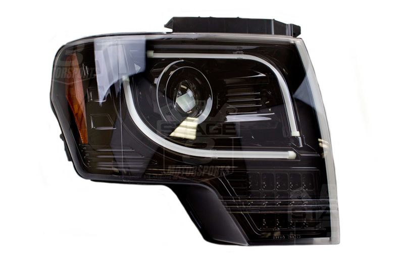 2013 2014 F150 Amp Raptor Recon Smoked Projector Headlights