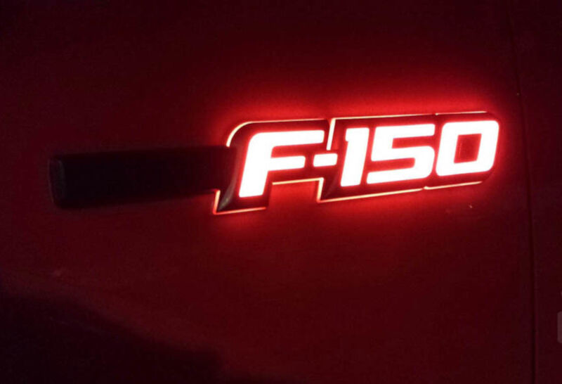 Blacked Out Ford F150 >> 2009-2014 F150 Recon Illuminated Side Emblems 264282