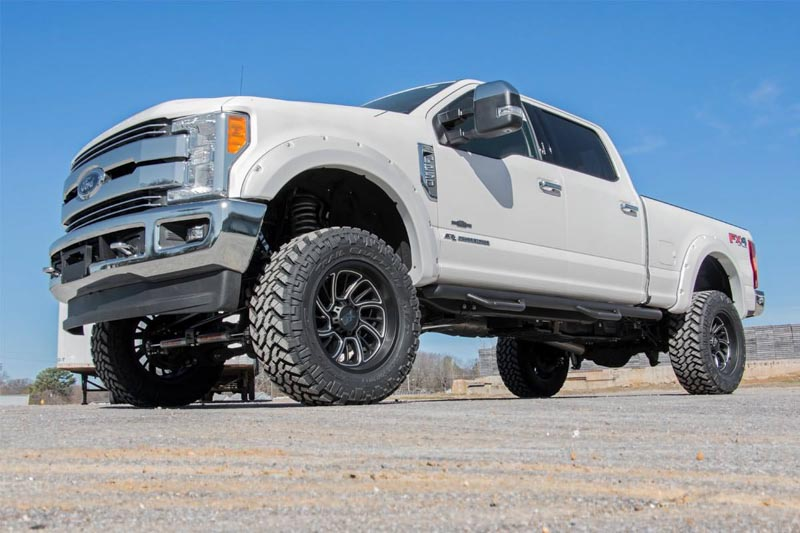 f250 rough country steps wheel nerf ford fender flares f350 pocket 250 cab bed crew roughcountry super duty pickup suspension