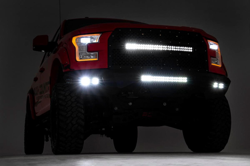 2015-2017 F150 Rough Country Heavy-Duty Front Bumper with ...