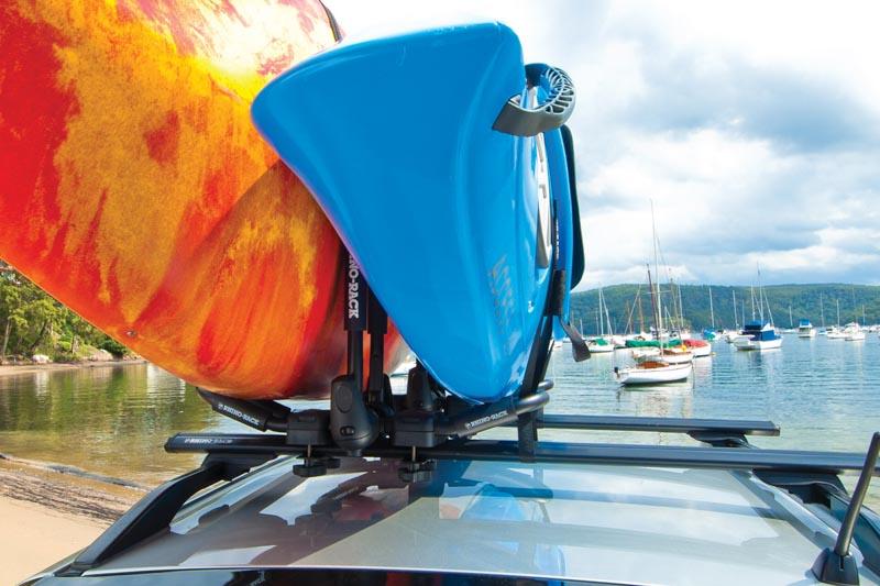 rhino rack folding  style kayak carrier extension sx