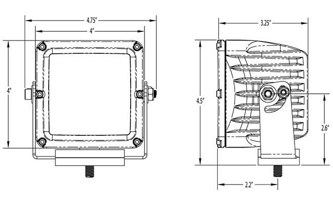 rigid industries d2 xl pro led light - driving