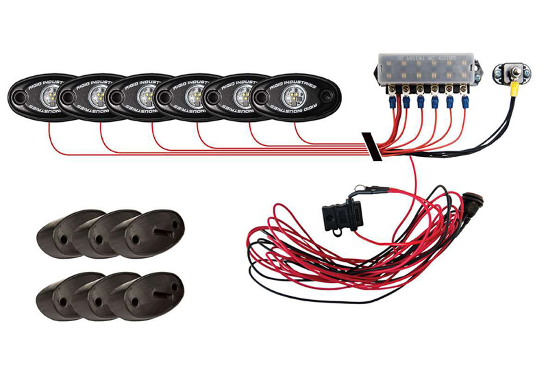 Rigid Industries 6 A Series Led Rock Lights Kit Red 400263 Electrical Wiring Lighting In Tap To Expand
