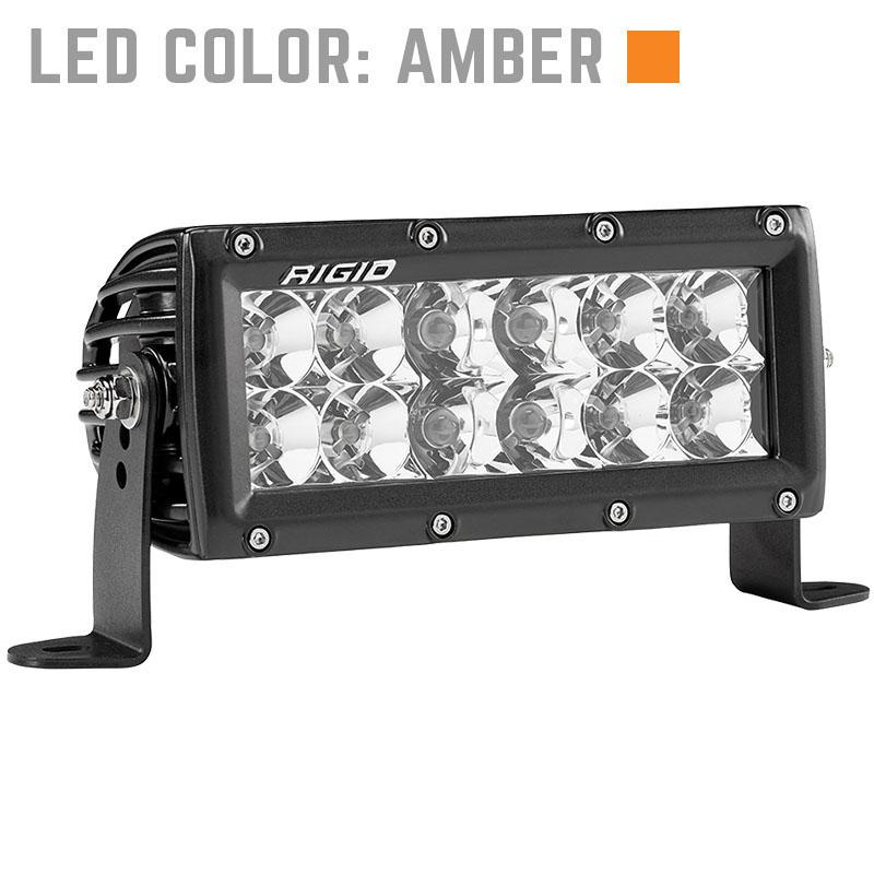 Rigid Light Bar >> Rigid Industries 6 Inch E Series Led Light Bar Amber Combo