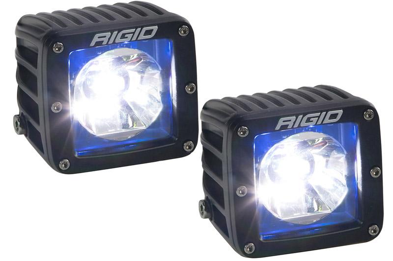 20201 Blue Back-Light Rigid Industries Radiance LED Pod Pair