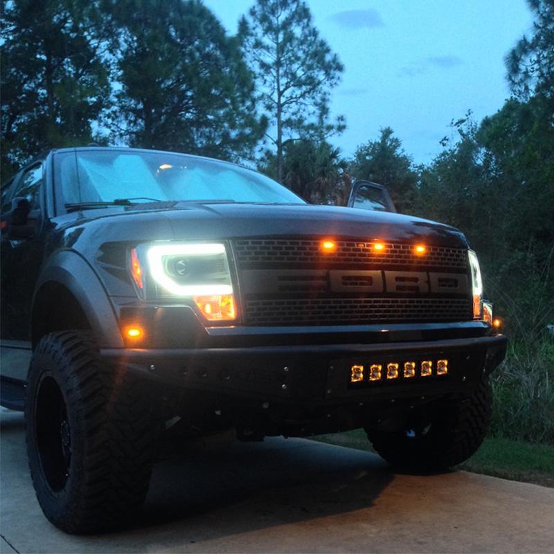 2006 Ford F250 >> Rigid Industries Radiance Series Amber Back-Light LED Pod ...