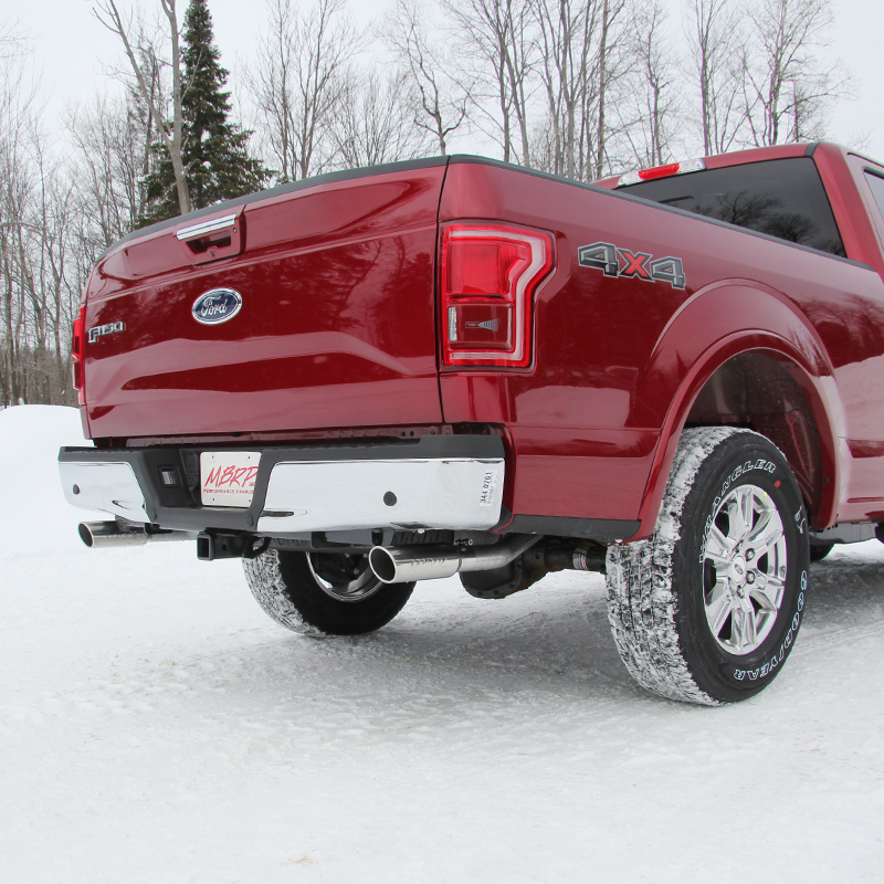 20152018 F150 50l Mbrp 25 Installer Series Dual Rear Exit Catback Exhaust Kit Aluminized: 2016 F150 Exhaust Tip At Woreks.co