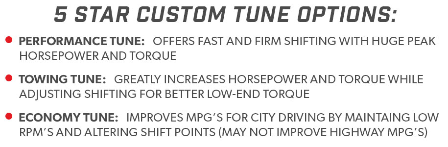 5-Star F150 4.6L Custom Tune Options