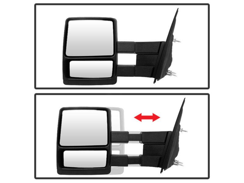 1999-2007 F250 & F350 Spyder Manual Telescoping Mirror Set
