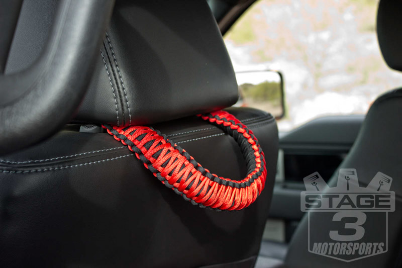 headrest paracord grab handle set hrk